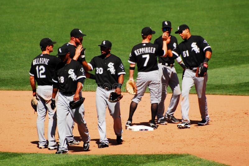 Haut Fives pour White Sox photos stock