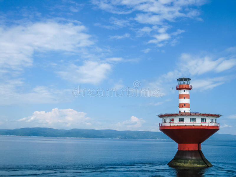 Haut-Fond Prince Lighthouse. Quebec, Canada royalty free stock images