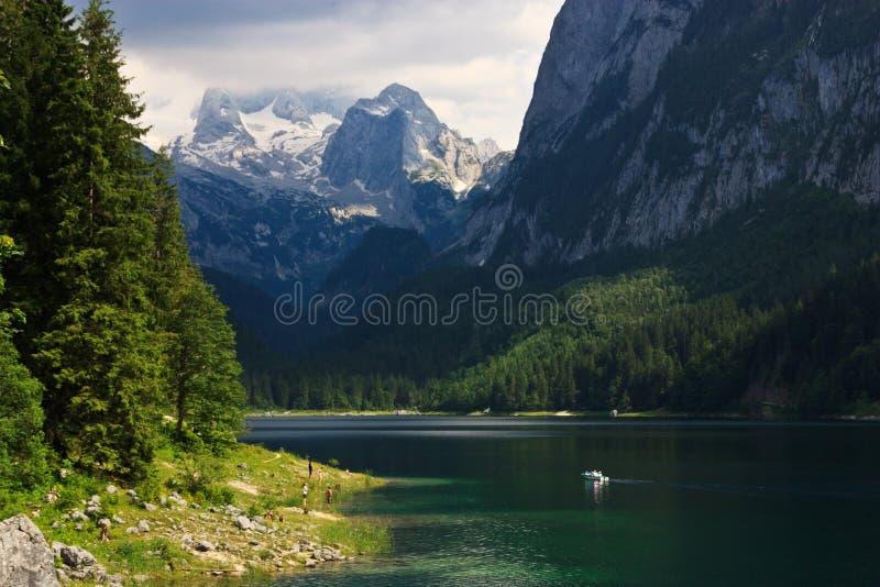 Haut lac alpin Gossau, Autriche photographie stock