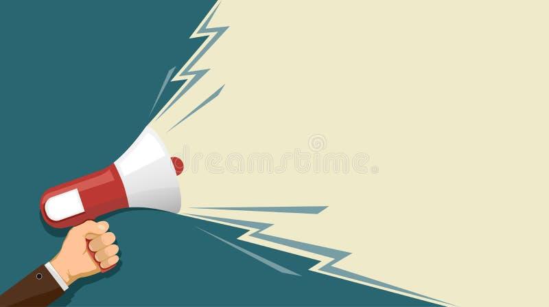 Haut-parleur à disposition illustration de vecteur