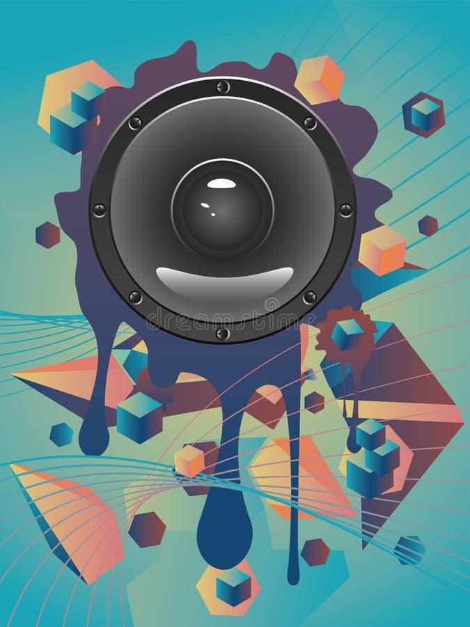 Haut-parleur audio abstrait illustration de vecteur