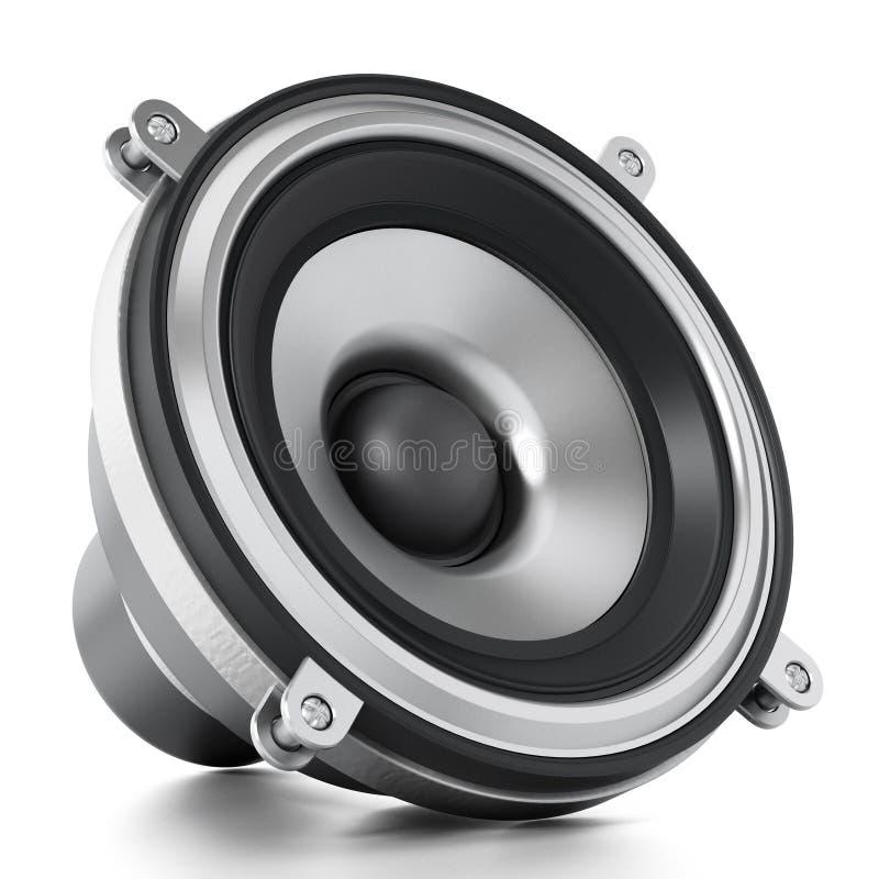 Haut-parleur audio générique d'isolement sur le fond blanc illustration 3D illustration de vecteur