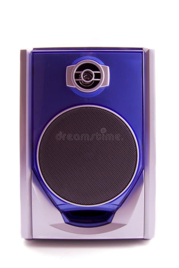 Haut-parleur bleu image libre de droits