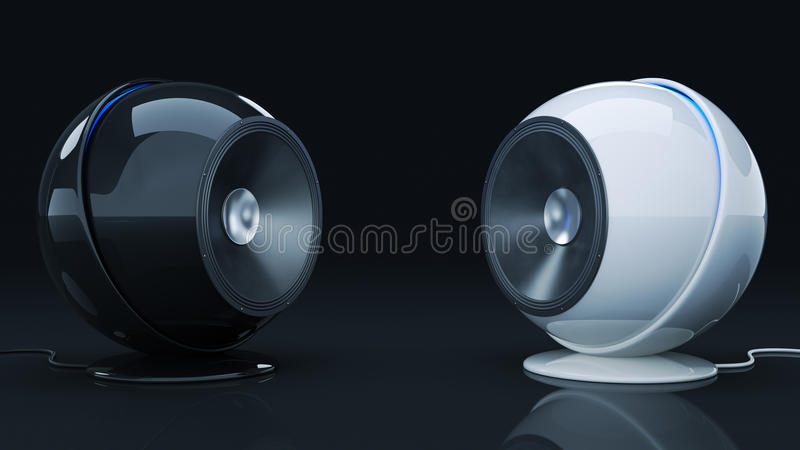 Haut-parleur 3D de sphère illustration libre de droits