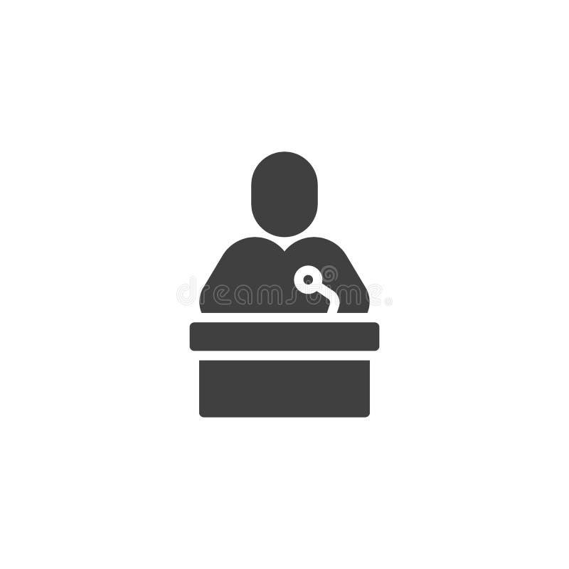 Haut-parleur de conférencier avec l'icône de vecteur de microphone illustration libre de droits