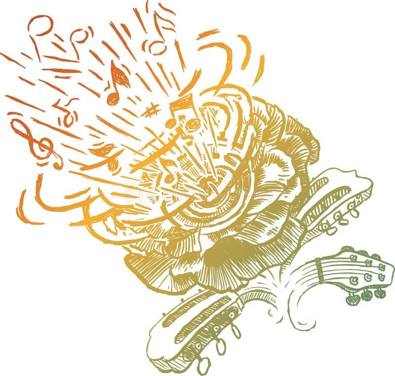 haut-parleur de fleur illustration libre de droits