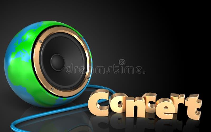 haut-parleur de globe de la terre de haut-parleur de globe de la terre 3d illustration stock
