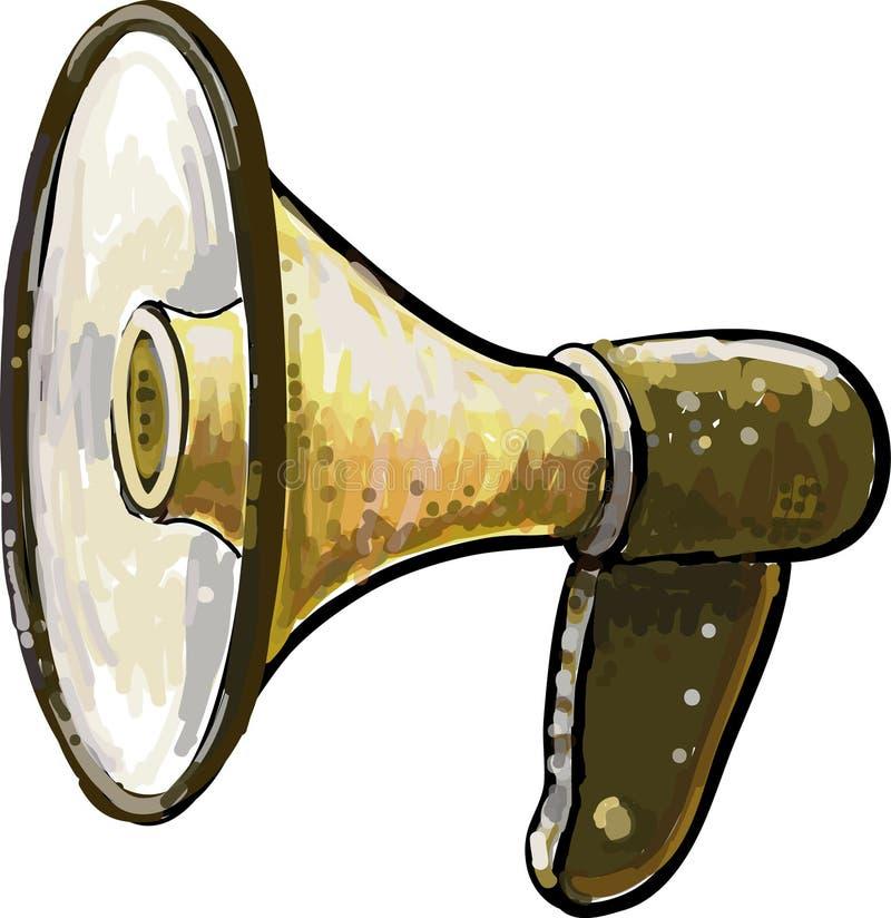 Haut-parleur de klaxon illustration libre de droits
