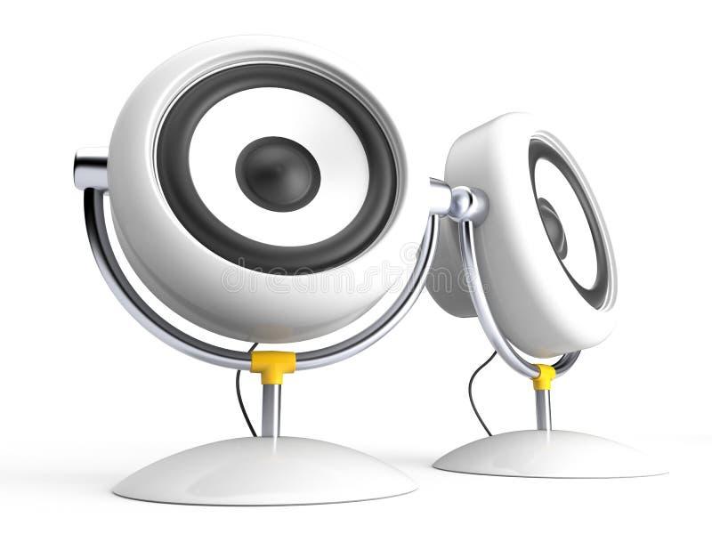 Haut-parleur deux illustration de vecteur