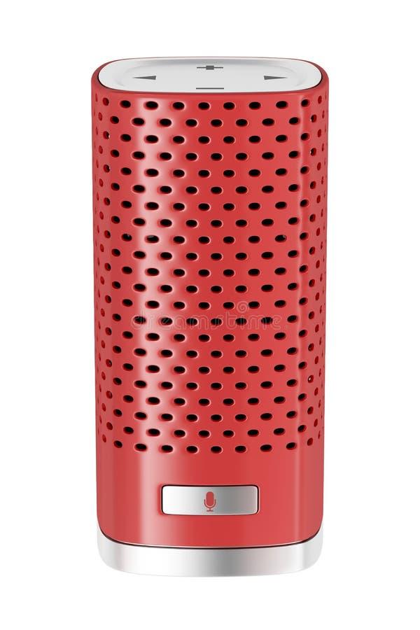 Haut-parleur futé rouge sur le blanc illustration de vecteur