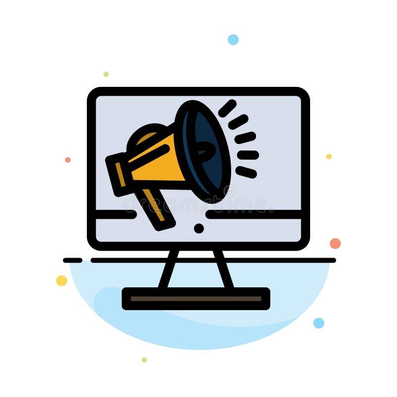 Haut-parleur, grand volume, haut-parleur, haut-parleur, calibre plat d'icône de couleur d'abrégé sur voix illustration de vecteur