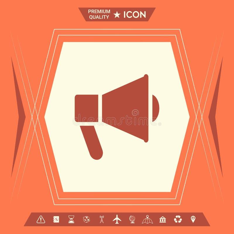 Haut-parleur, icône de corne de brume illustration de vecteur