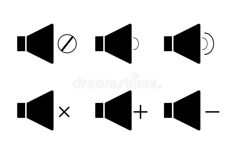 Haut-parleur, icône, mégaphone illustration de vecteur