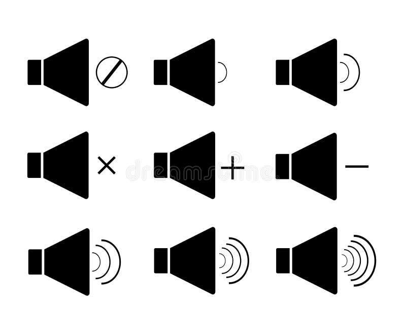 Haut-parleur, icône, mégaphone illustration stock
