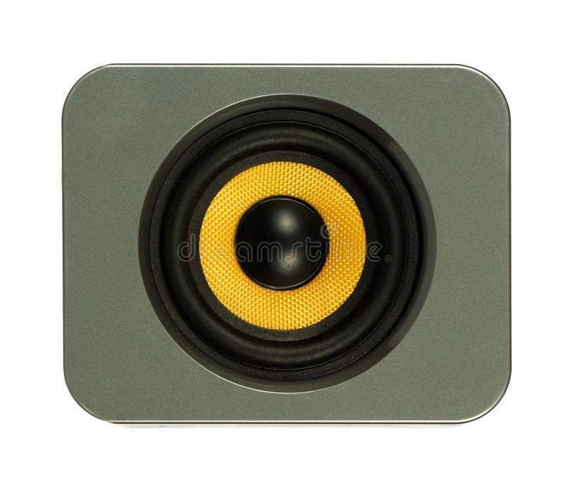 Haut-parleur jaune images libres de droits