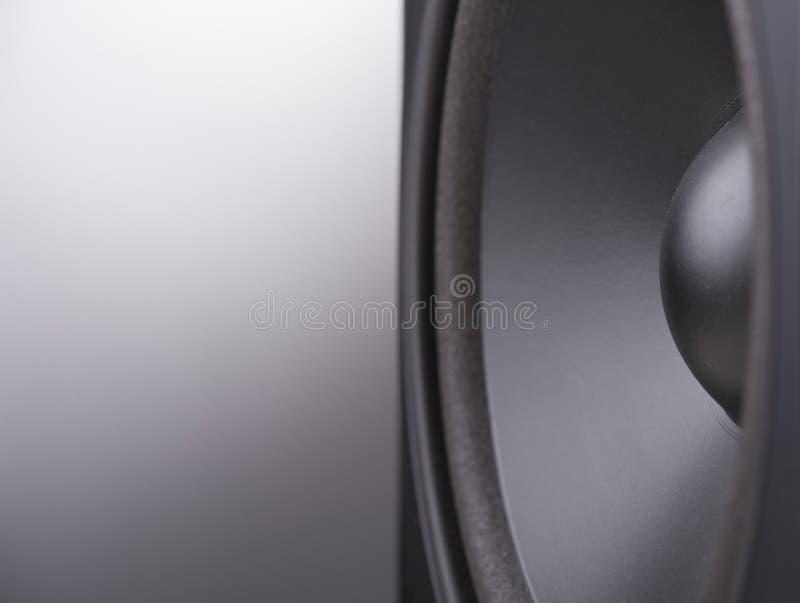 Haut-parleur noir photo stock