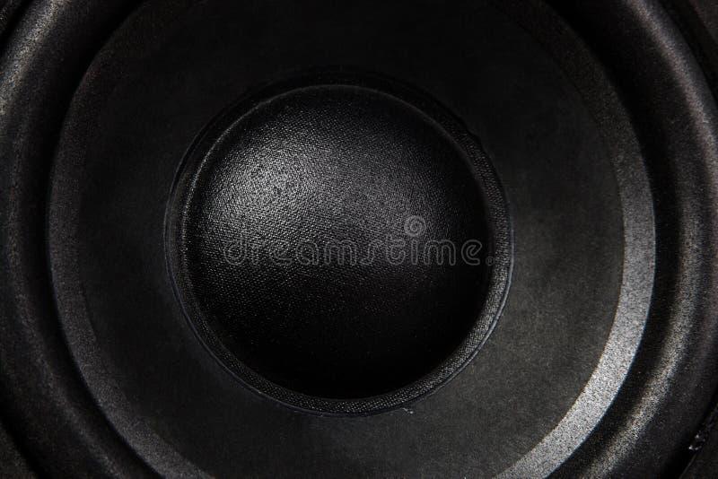 Haut-parleur noir photographie stock