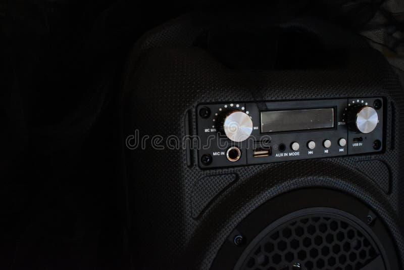 Haut-parleur noir de musique photos stock