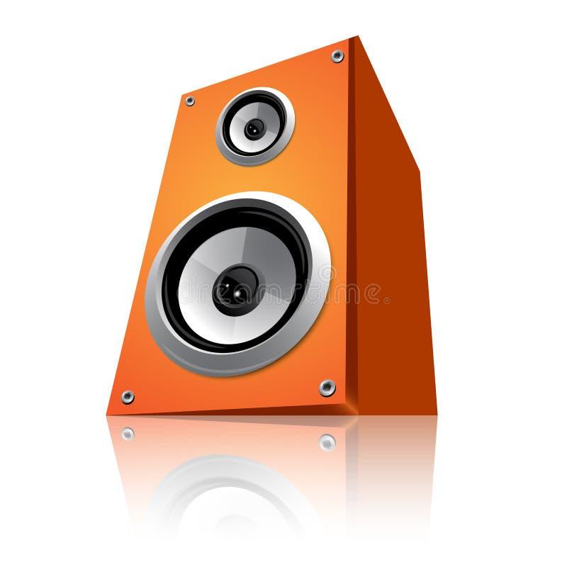 haut-parleur orange illustration de vecteur