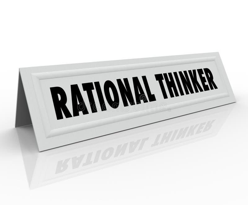 Haut-parleur raisonnable de pensée de penseur de nom de tente de raison rationnelle de carte illustration libre de droits