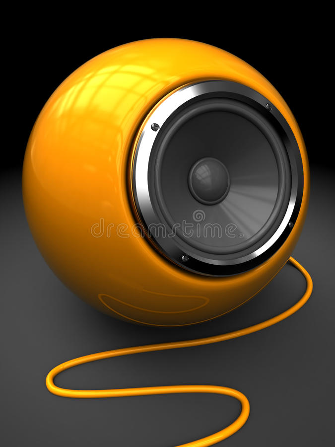 Haut-parleur sonore moderne illustration stock