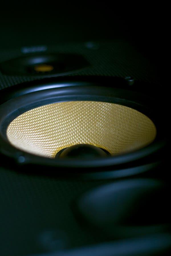 Haut-parleur stéréo de haute fidélité de côté photos stock