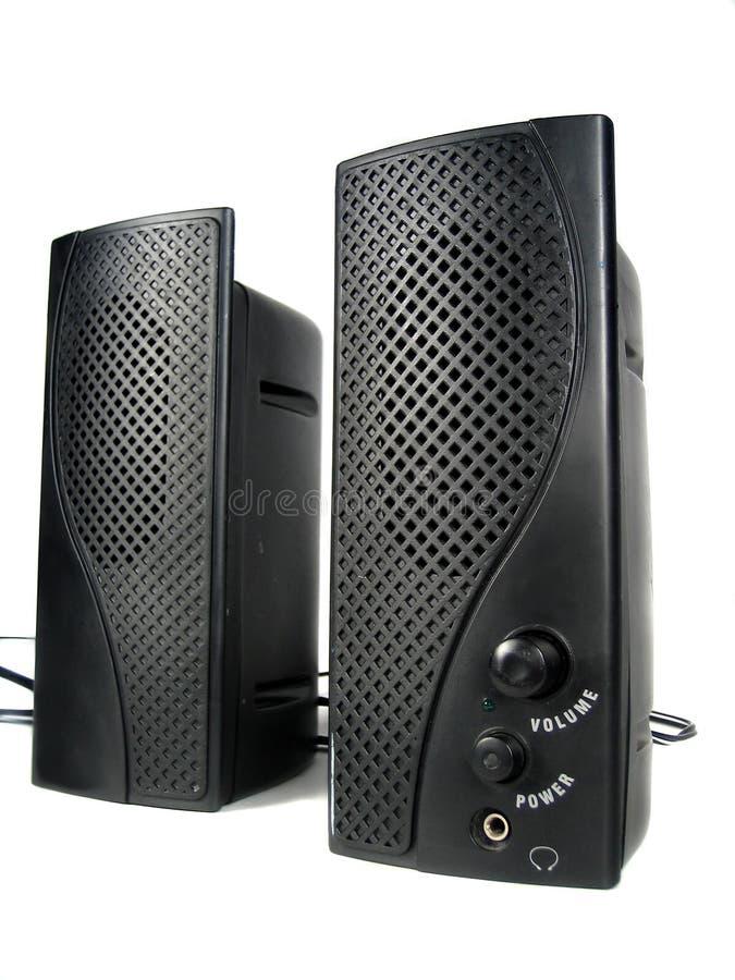 Haut-parleurs d'ordinateur images stock