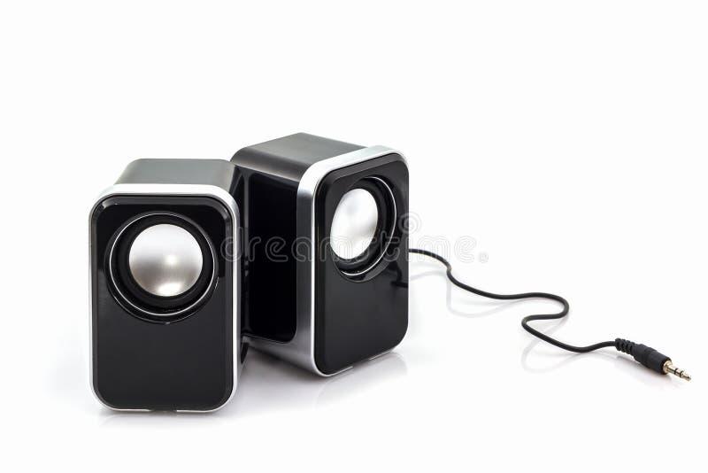 Haut-parleurs de petit ordinateur photo libre de droits