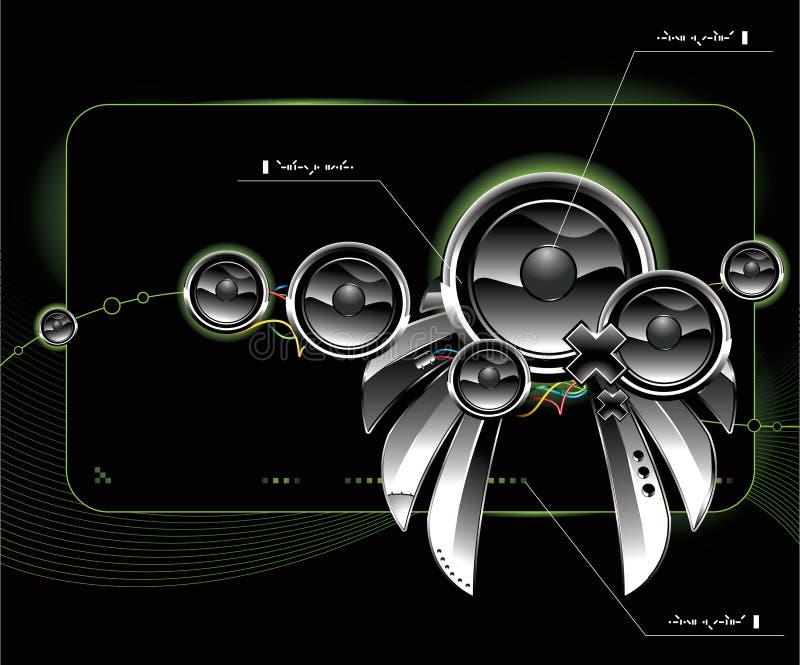 haut-parleurs lustrés futuristes illustration stock