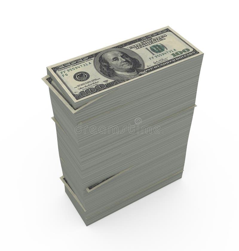 Haut pile de facture de dollar US illustration de vecteur