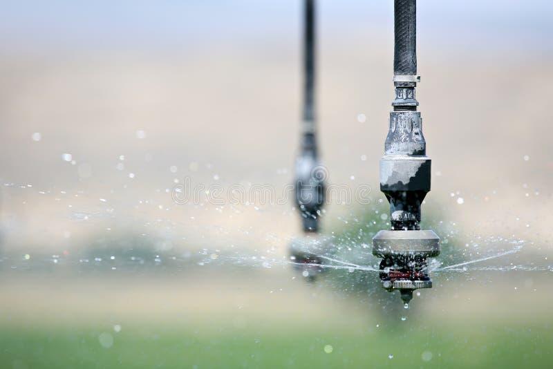 Haut proche d'irrigation photographie stock