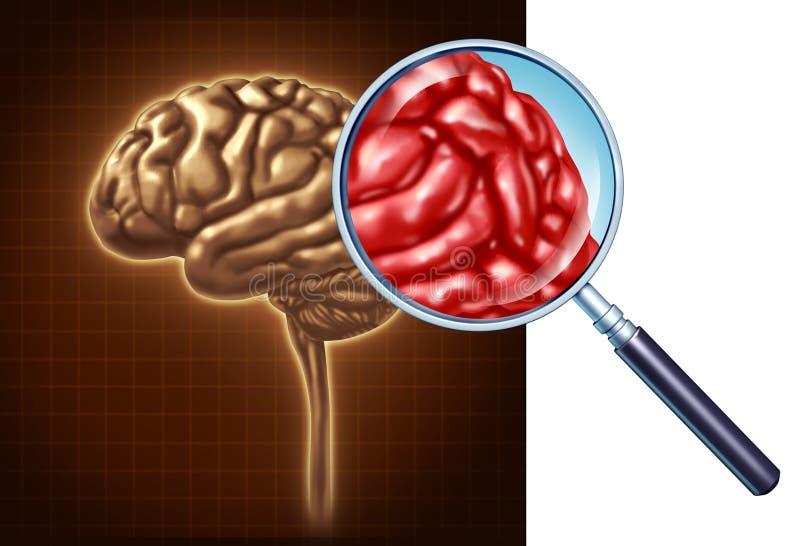 Haut proche de cerveau illustration de vecteur