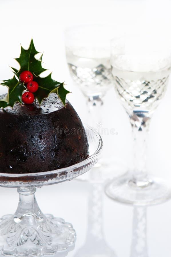 Haut pudding principal de Noël photographie stock libre de droits