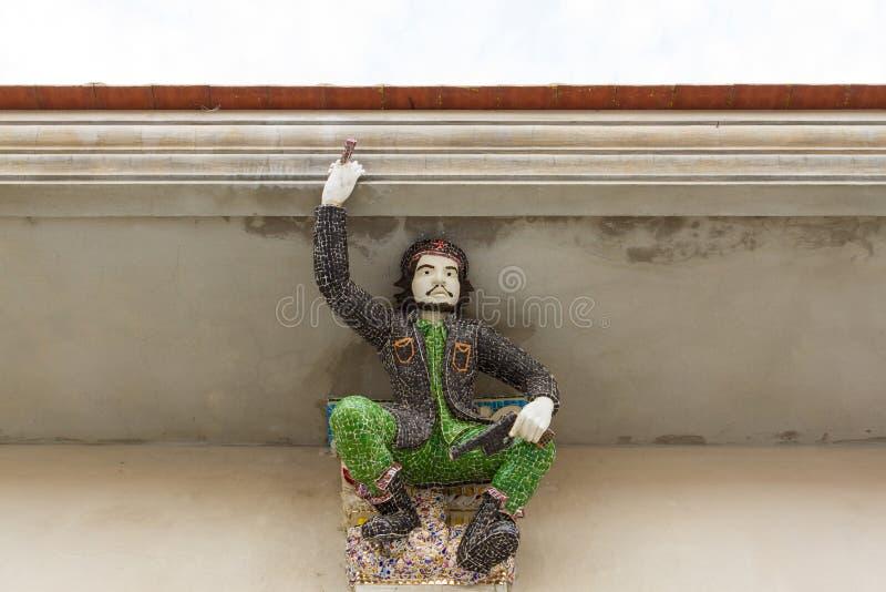 Haut-reliëfbeeldhouwwerk van Che Guevara, opstandeling, verfraaid w royalty-vrije stock afbeelding