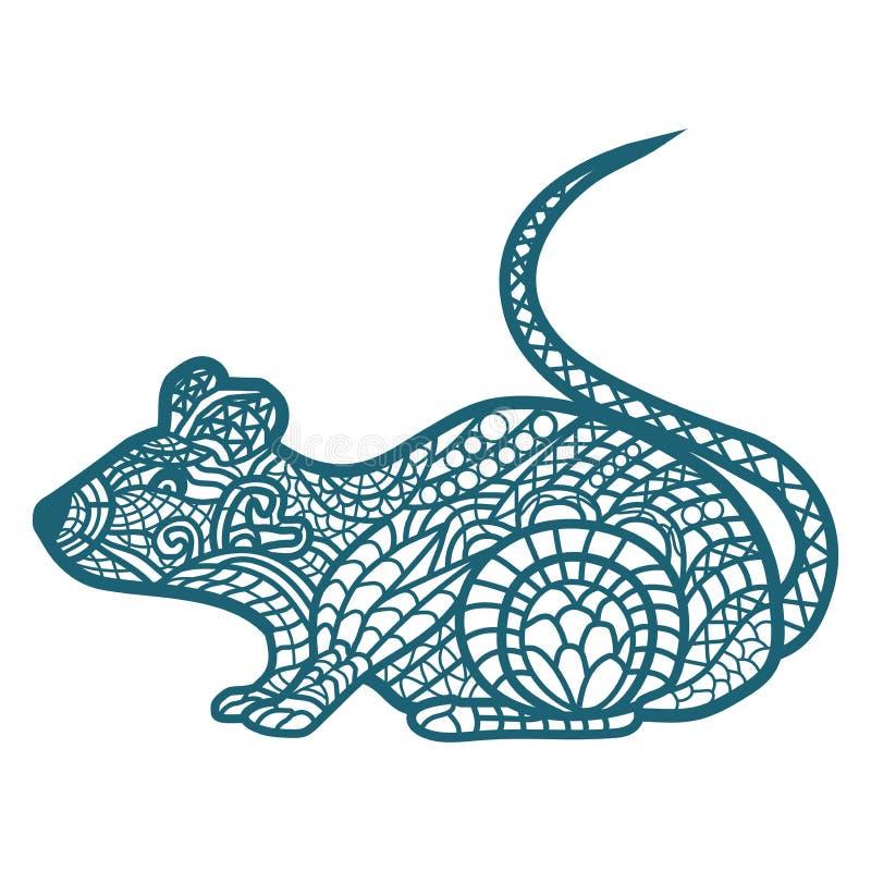 Haut ?troit de rat illustration stock
