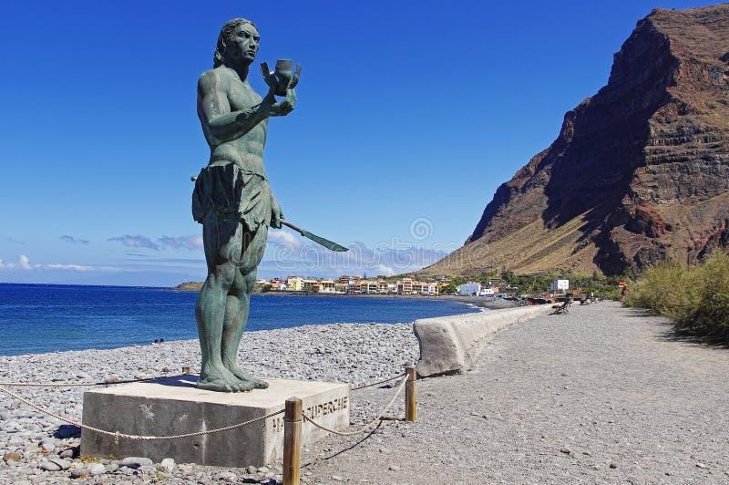 Hautacuperche雕象 戈梅拉岛海岛 图库摄影