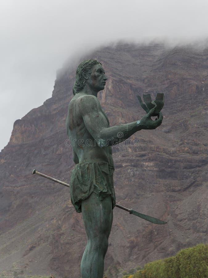 Hautacuperchemonument, Valle Gran Rey, La Puntilla, La Gomera, Canarische Eilanden, Spanje stock foto