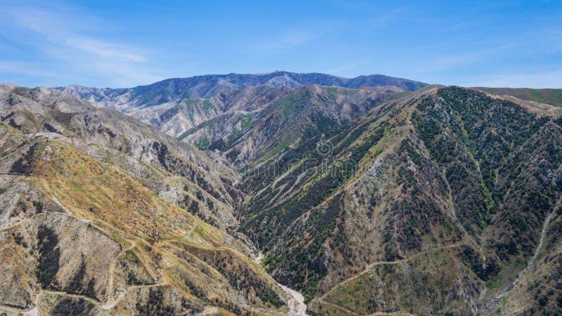 Haute au-dessus de canyon de la Californie photo libre de droits