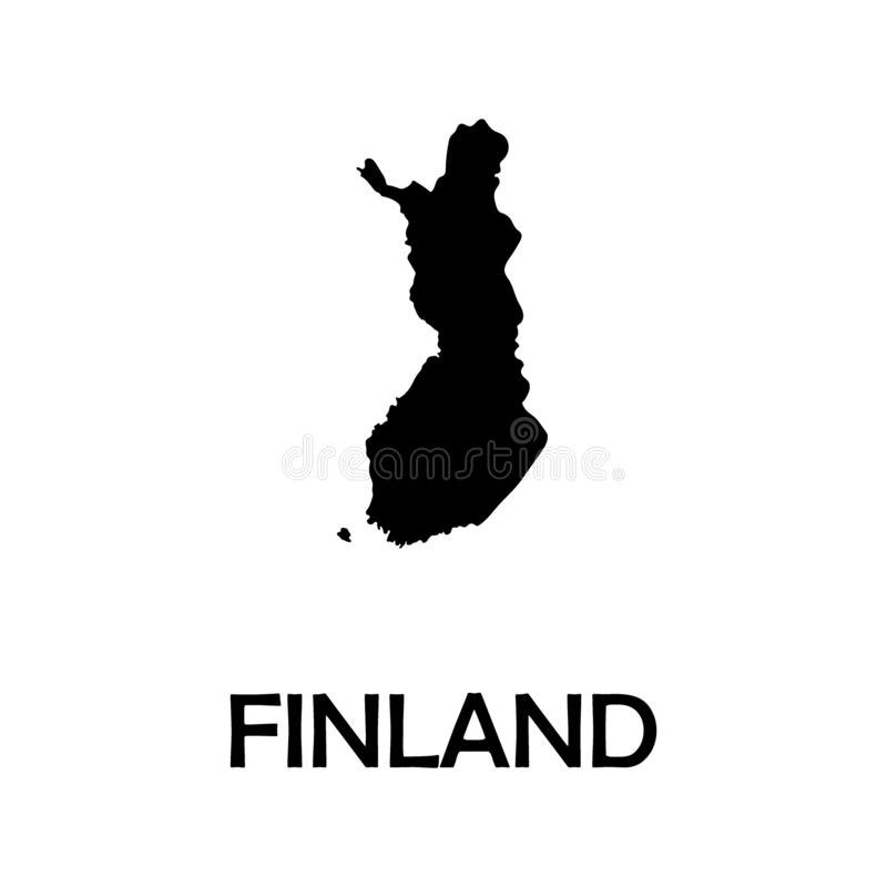 Haute carte détaillée de vecteur - Finlande illustration libre de droits