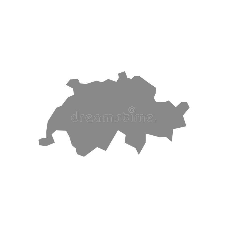 Haute carte d?taill?e de vecteur - Suisse illustration de vecteur