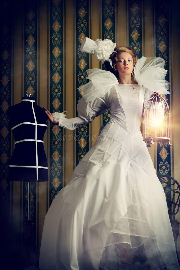 Haute couture fotografering för bildbyråer