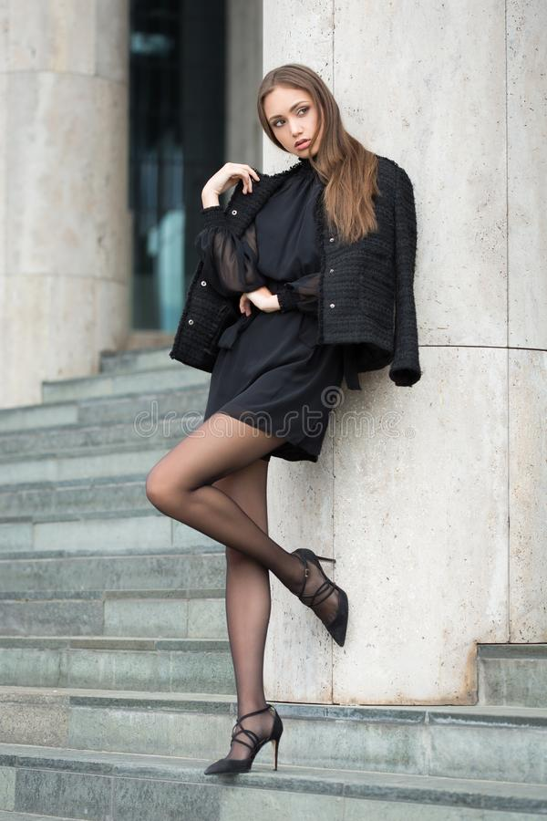 Haute Couture Brunette stockfotografie