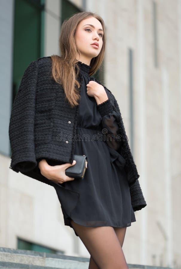 Haute Couture Brunette stockbilder