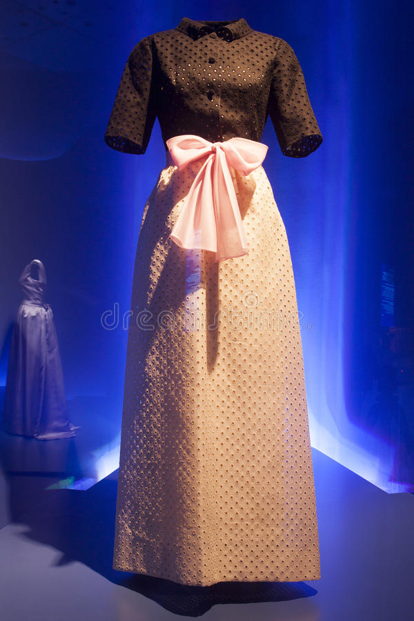 Haute couture dress. 20s expensive gorgeous dress hand made by Balenciaga stock images