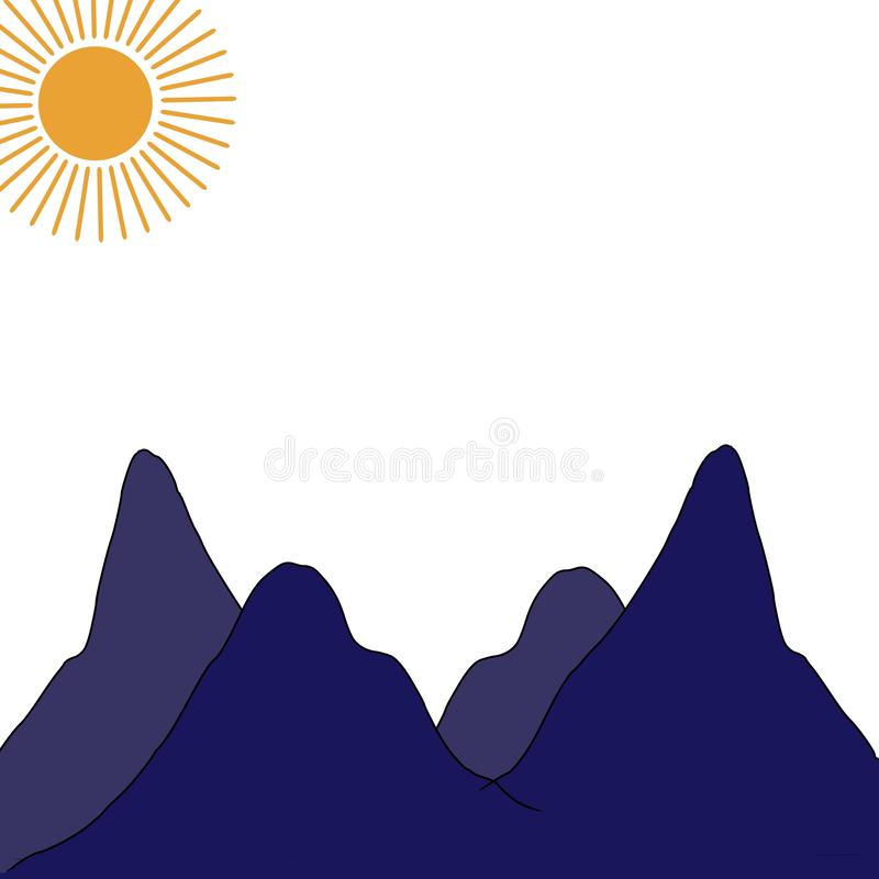 Haute d'illustration de montagne images libres de droits