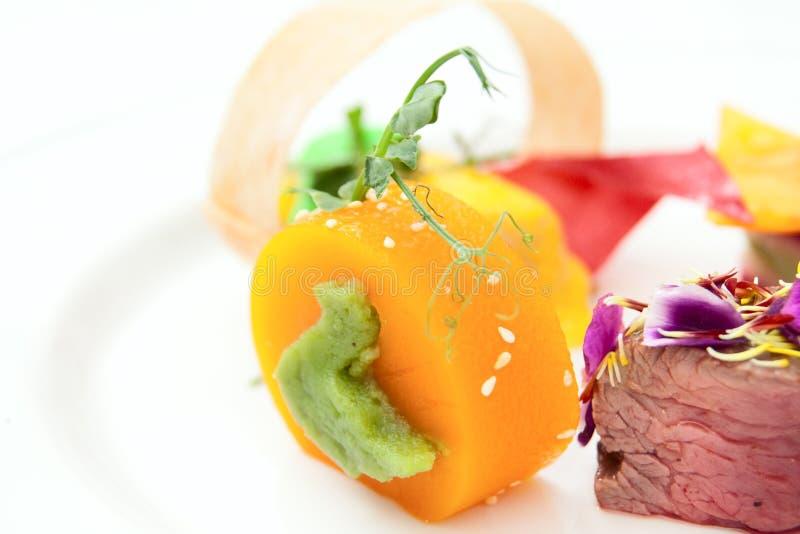 Haute Kücheteller, Exemplarplatz lizenzfreies stockfoto