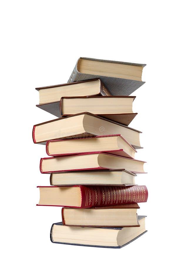 Haute pile de livres photos stock