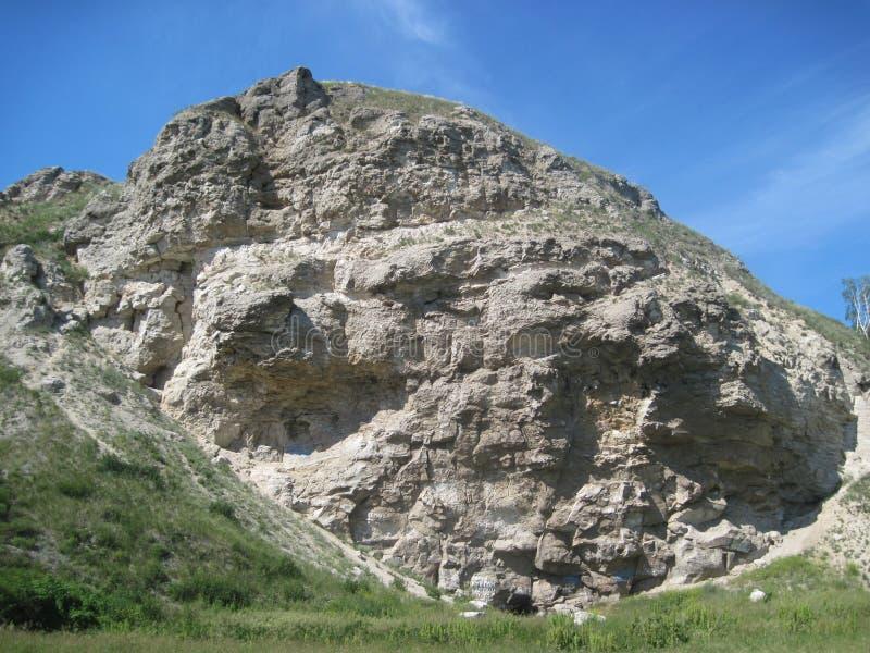 Haute roche blanche images libres de droits