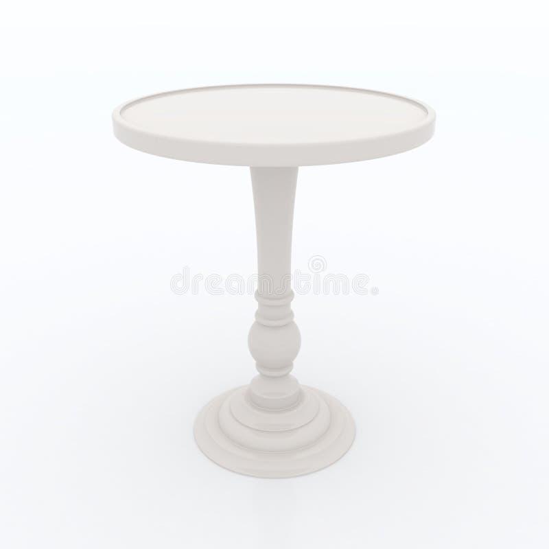 Haute table supérieure ene ivoire illustration stock