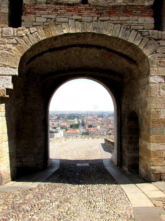 Haute ville de Bergame photos libres de droits